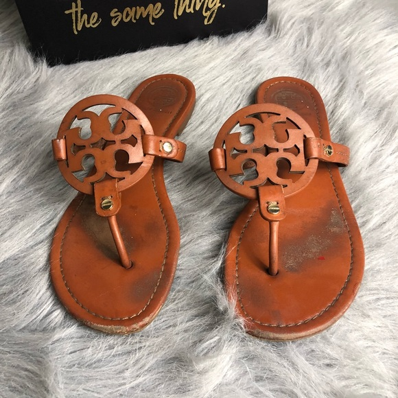 ba041ce7785 Tory Burch Miller Sandals Dark Tan Size 9. M 5b3e75a72e1478fad131a2e4